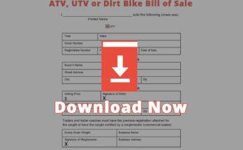 ATV, UTV or Dirt Bike Bill of Sale