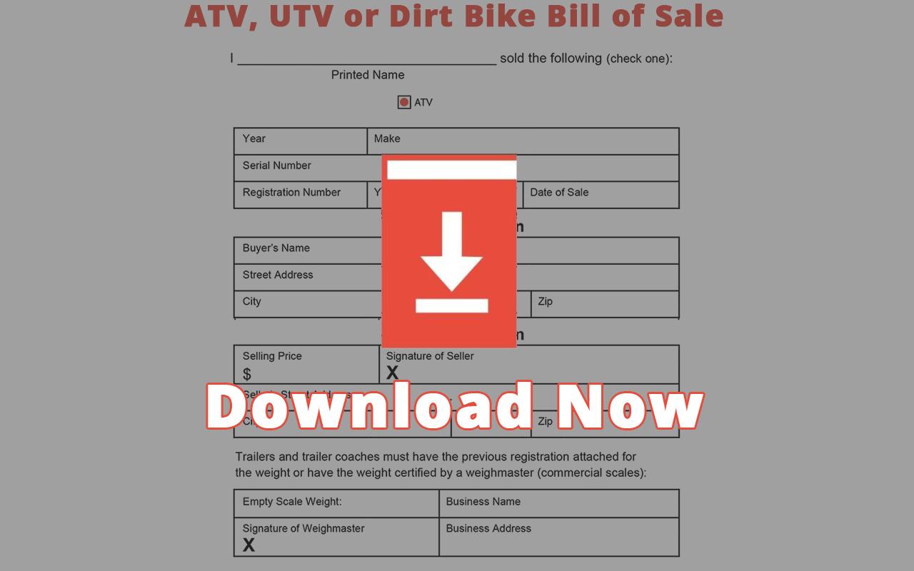 Missouri ATV Bill of Sale