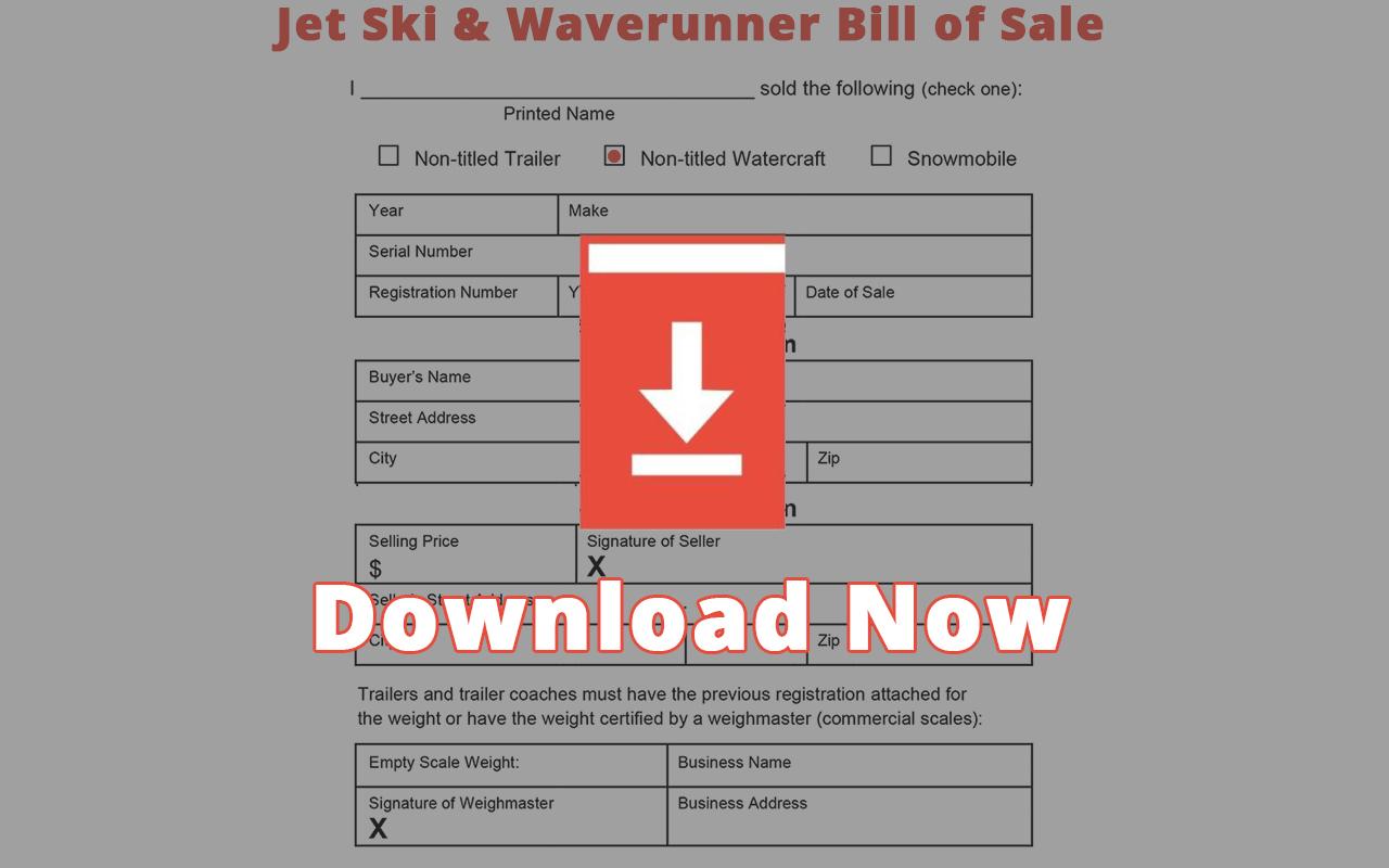 Jet Ski Bill of Sale